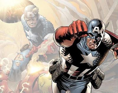 Dibujo del Capitán América de portada a color