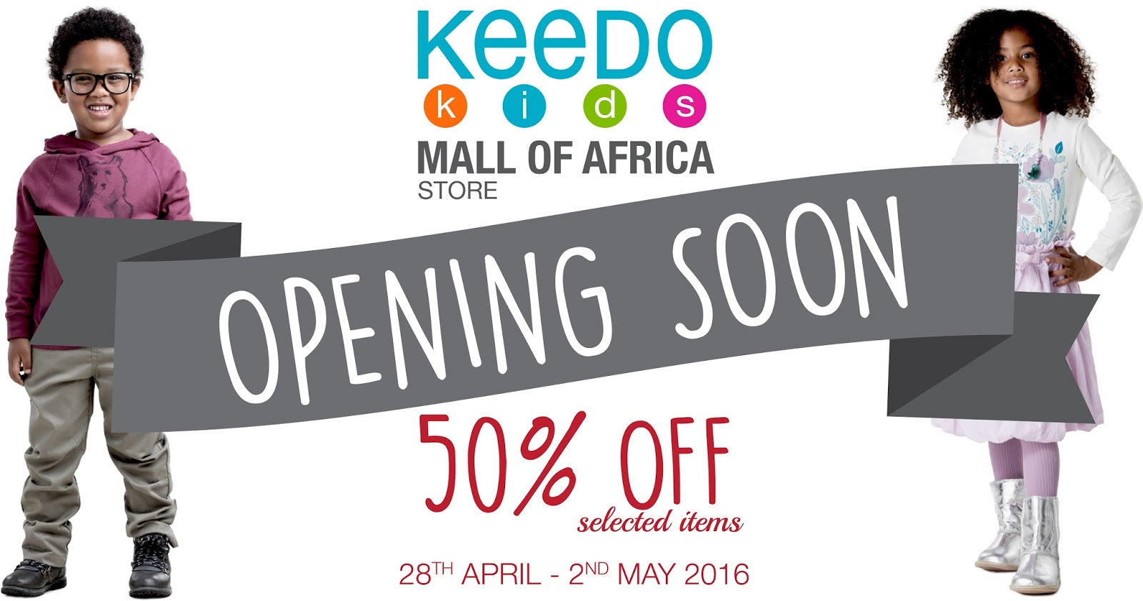 Mall of Africa: GET 50% OFF SELECTED ITEMS AT KEEDO KIDS