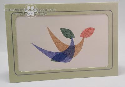 cardsNpaperart met sjabloon naar Piet Marée