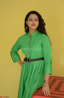 Geethanjali in Green Dress at Mixture Potlam Movie Pressmeet March 2017 022.JPG