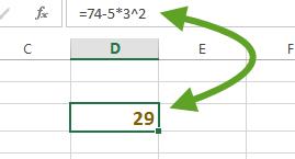 Utilisation de l'exposant dans une formule