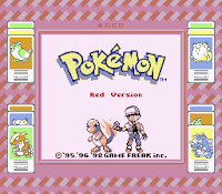 Captura de Pokémon Red, 1996, Super Game Boy, pantalla de título