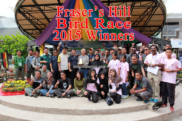 Winners of Fraser's Hill Bird Race 2015