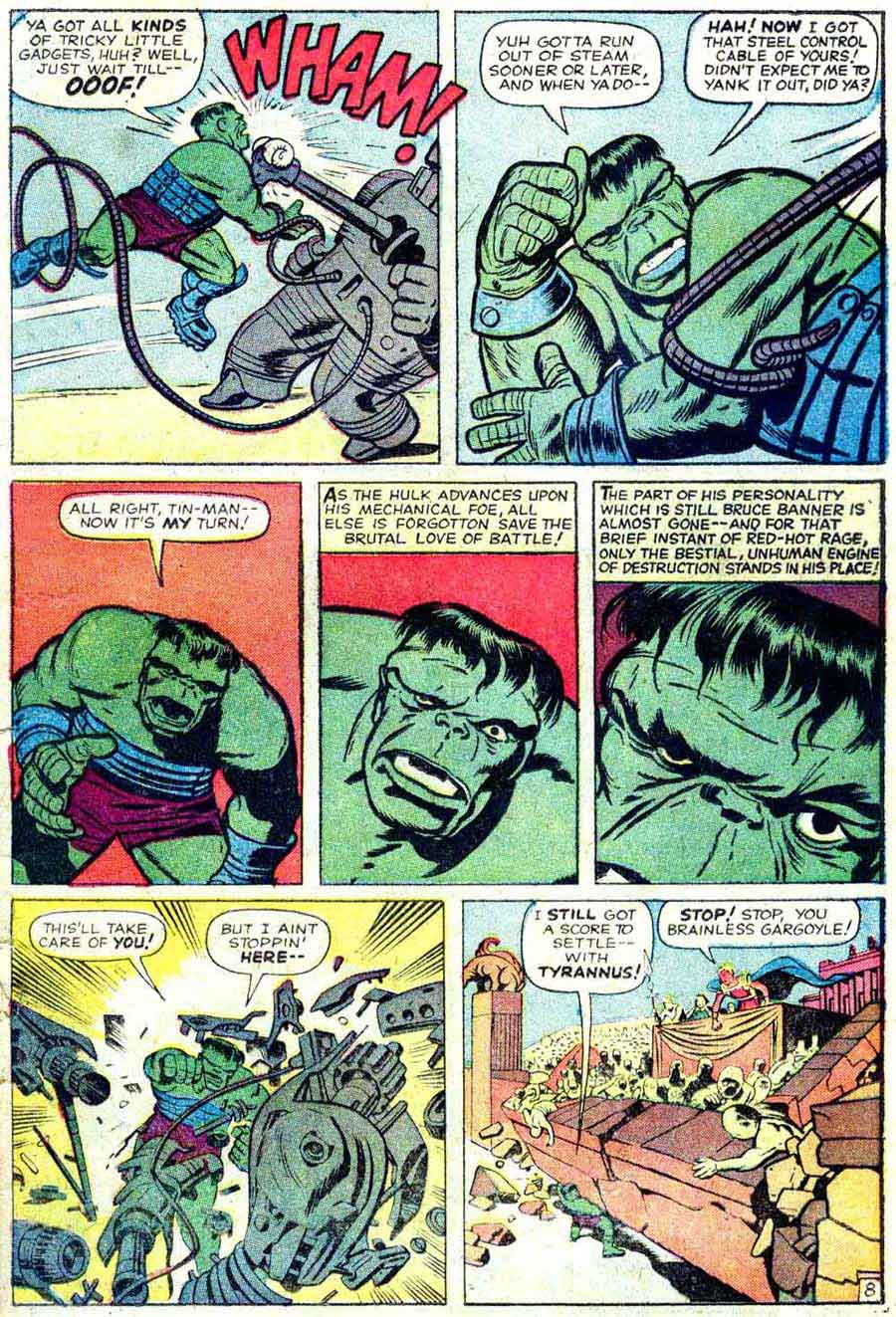 Incredible Hulk v1 #5 marvel comic book page art by Jack Kirby