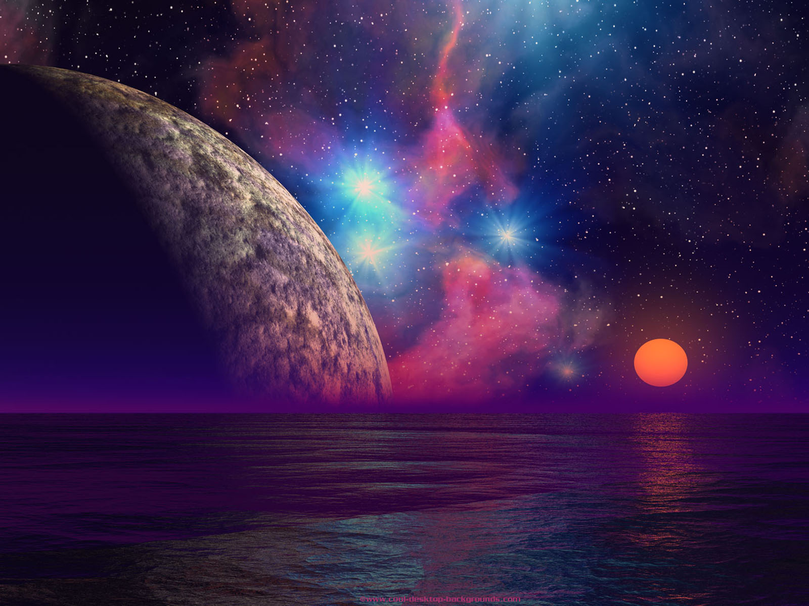 Wallpapers alien sunset wallpapers for Paesaggi bellissimi per desktop