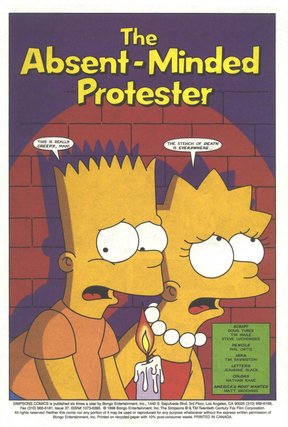 Read online Simpsons Comics comic -  Issue #37 - 2