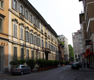 The Visconti palace in Via Cina del Duca in Milan