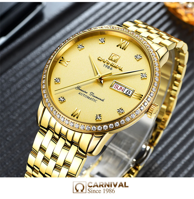 đồng hồ vàng đính đá