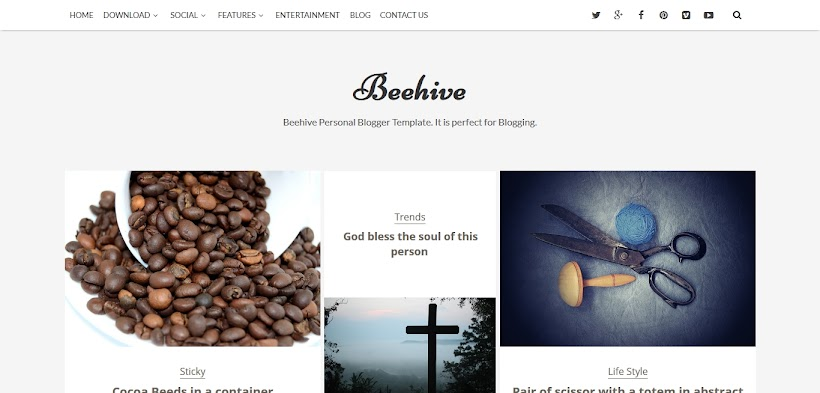 Beehive Free Blogger Template