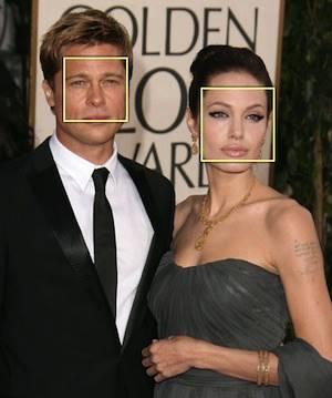 Brad Pitt traiu Angelina Jolie: reconhecimento facial