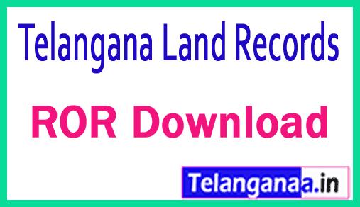 Telangana TS Land Records ROR Download at mabhoomi telangana