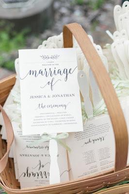 wedding program for guests-fans