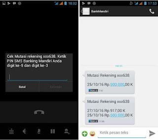 format sms banking mandiri