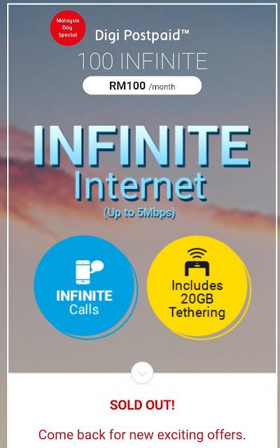 Promosi Digi i100 Infinite Dah Habis