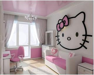 Gambar Kamar Hello Kitty Warna Pink 4