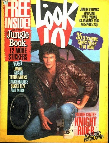 Look-In Magazine Jan 1984 ft. David Hasselhoff
