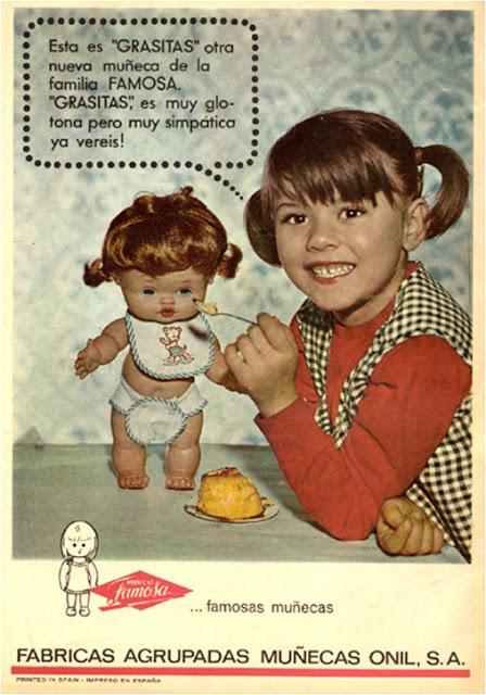 muñeca, grasitas, Famosa, onil S.A., glotona, comer mucho