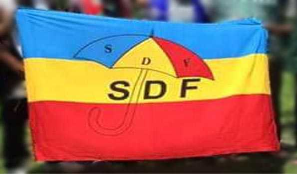 Sikkim Democratic Party SDF flag