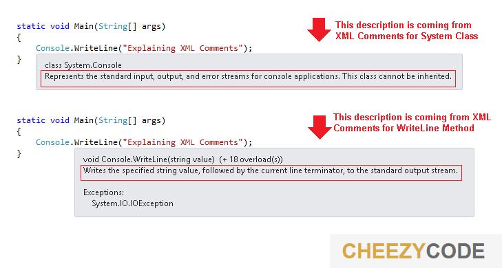 cheezycode-xml-comments