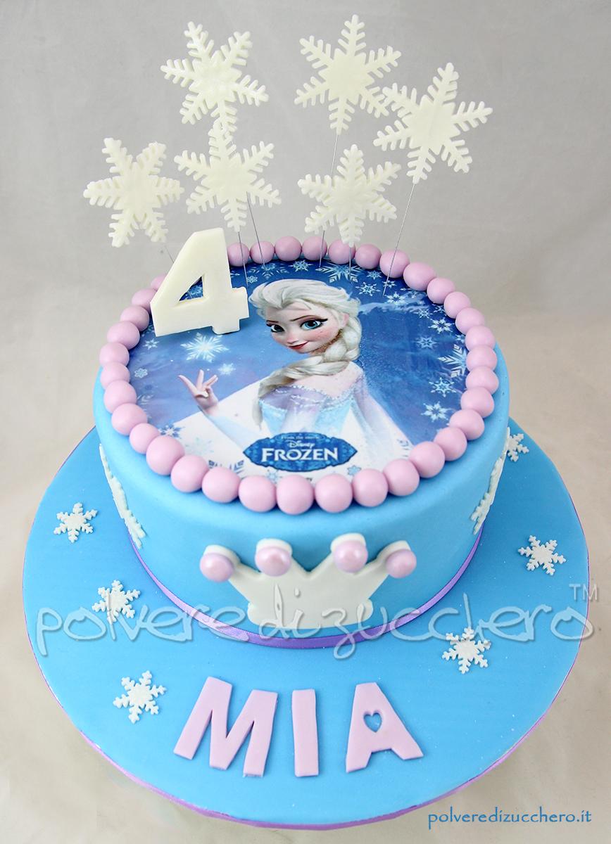 cake design pasta di zucchero cialda compleanno bimba pasta di zucchero polvere di zucchero elsa disney frozen