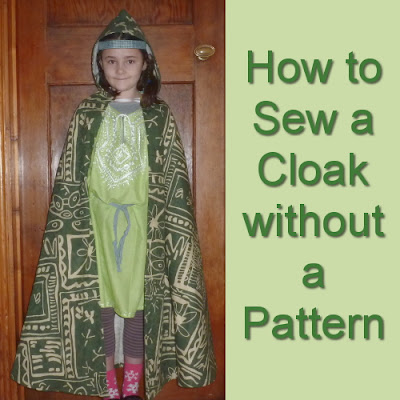 How I sewed a cloak with a hood from scratch without any pattern