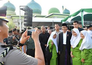 Presiden Jokowi Hadiri Peringatan hari Lahir NU Ke 92 Di pekanbaru