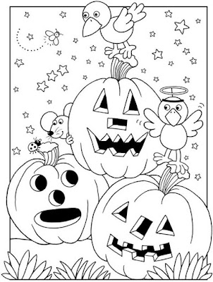 halloween and thanksgiving coloring pages