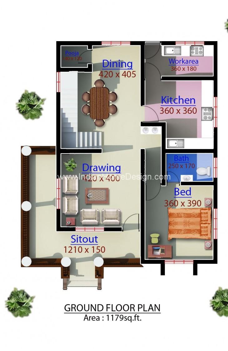 1960 sq ft modern kerala home plan 3d elevation indian for Kerala house 3d elevation design