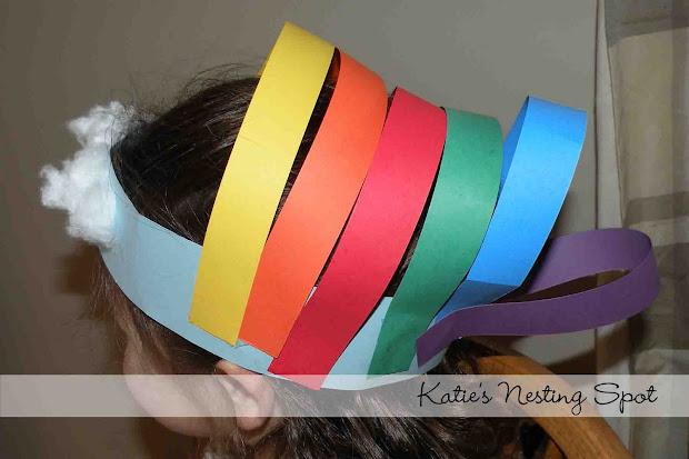 Katie' Nesting Spot Rainbows Preschool Art Projects