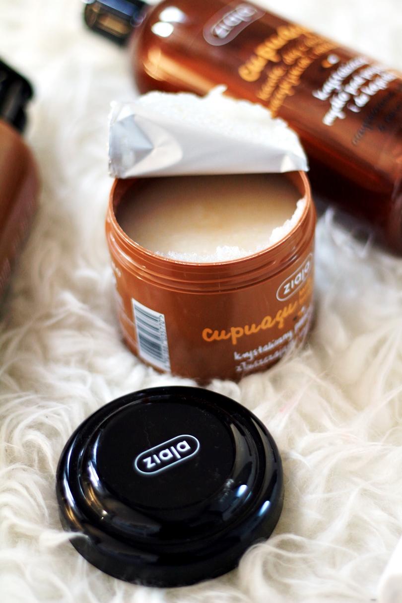 brązujące mleczko do ciała nawilżająco- odżywcze, cupuacu, suchy olejek krystaliczny, peeling, balsam brązujący, ziaja, beauty,