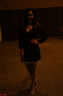 Kyra Dutta in black At Rogue Movie Audio Launch ~  054.JPG