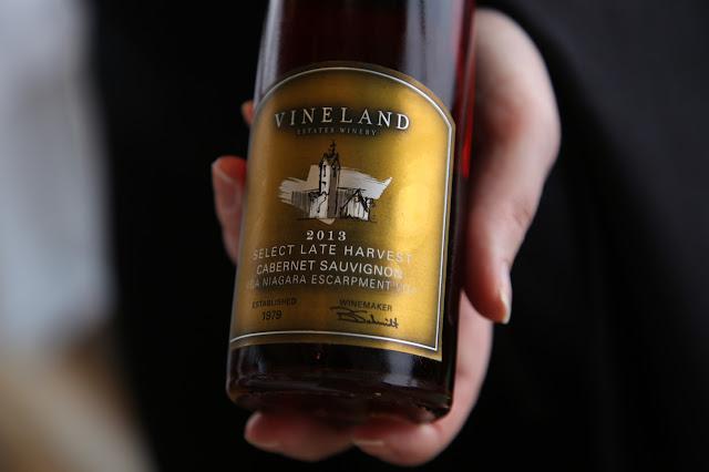 wine at Vineland Estates winery, ontario, canada