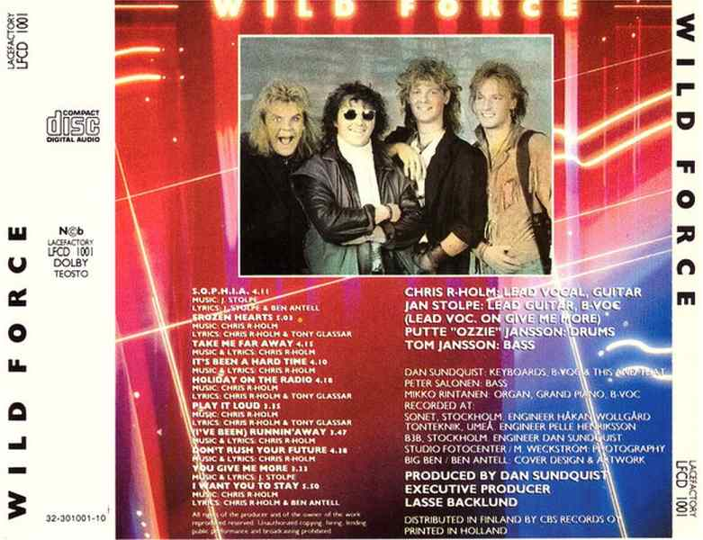 WILD FORCE - Wild Force [CD version +2] (1987) back