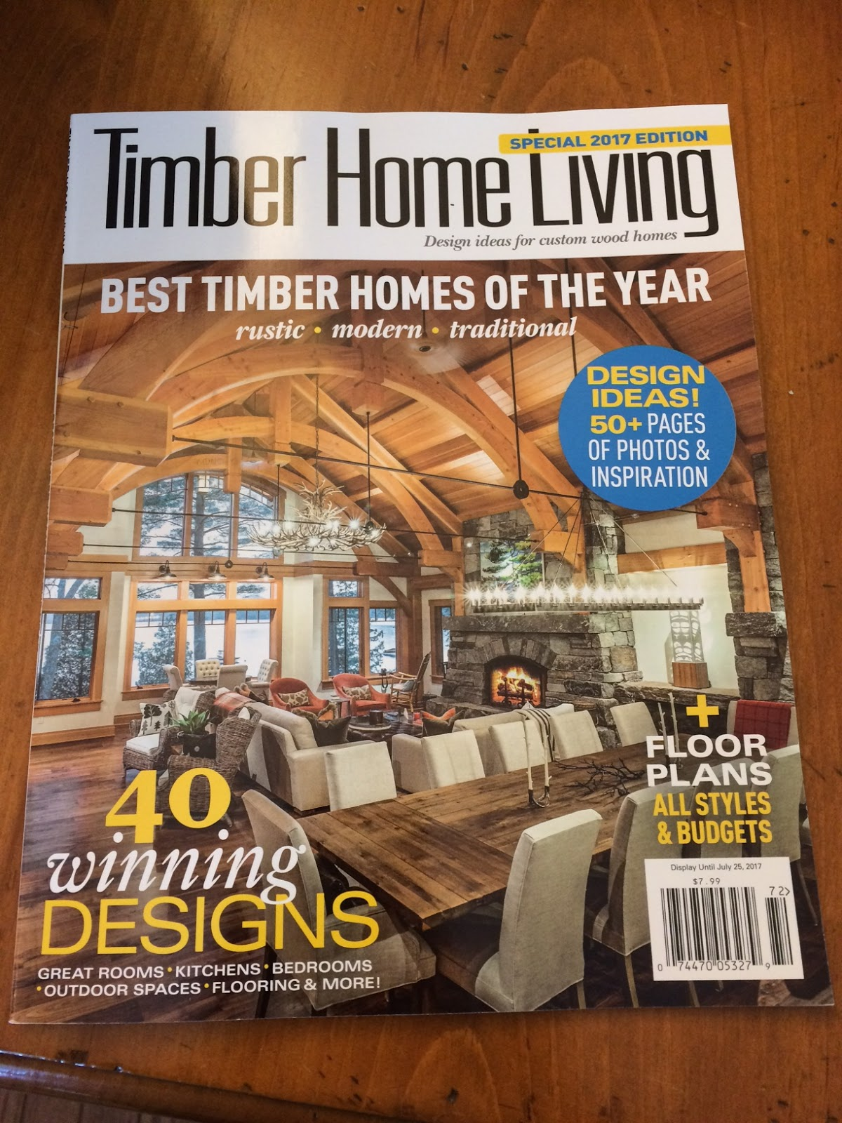 Look At Whose Stone Project Made The Cover Of Timber Home Living~ Nice Work  By Gary McKee And Morse Construction