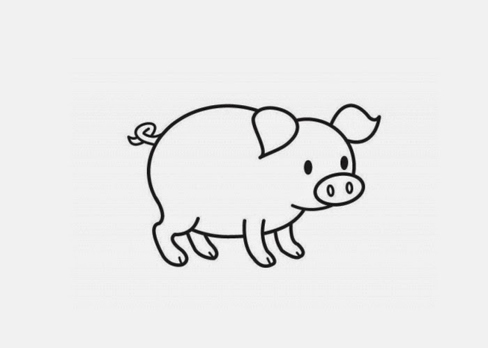 Picture Of A Pig To Color