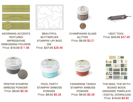 Stampin' Up! Weekly Deals 7th-13th May