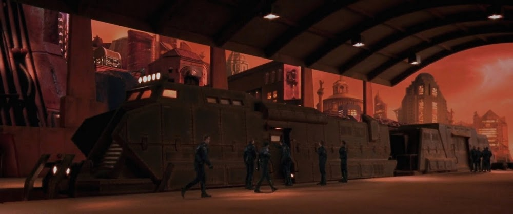 Brutalist architecture in Ghosts of Mars movie