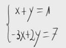 15 Sistema de ecuaciones (método de sustitución)