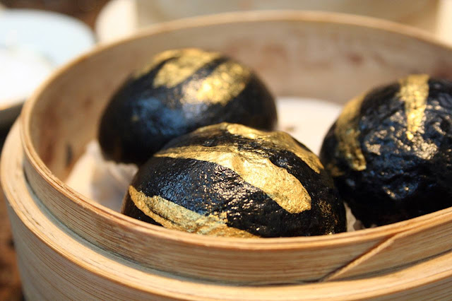 Conrad Hotel Manila's China Blue by Jereme Leung Black Gold Egg Custard Buns