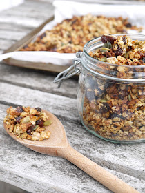 The Betty Stamp Banana Granola Refined Sugar Free