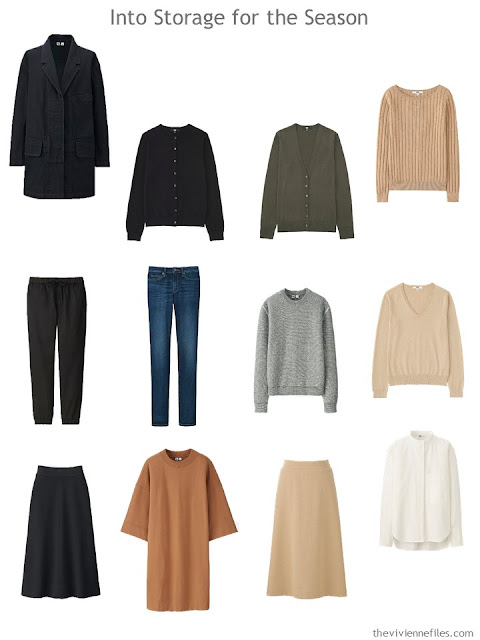 12 garments to store until cooler weather