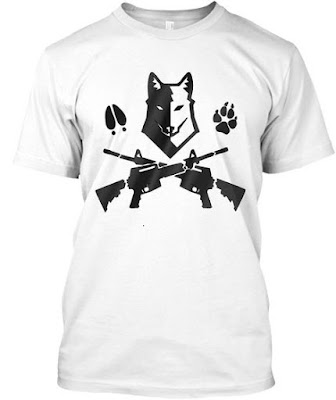 The t-shirt of respect of the wolf