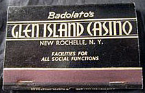 The Glen Island Casino matchbook