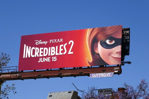 Incredibles 2 Elastigirl billboard