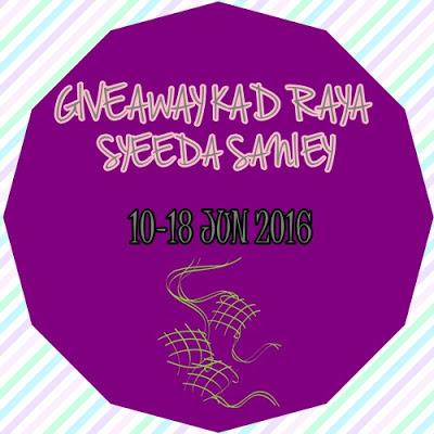 Giveaway Kad Raya Syeeda Saniey