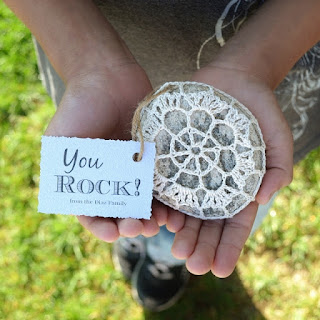 Crochet Rock Teacher Gift by Over The Apple Tree