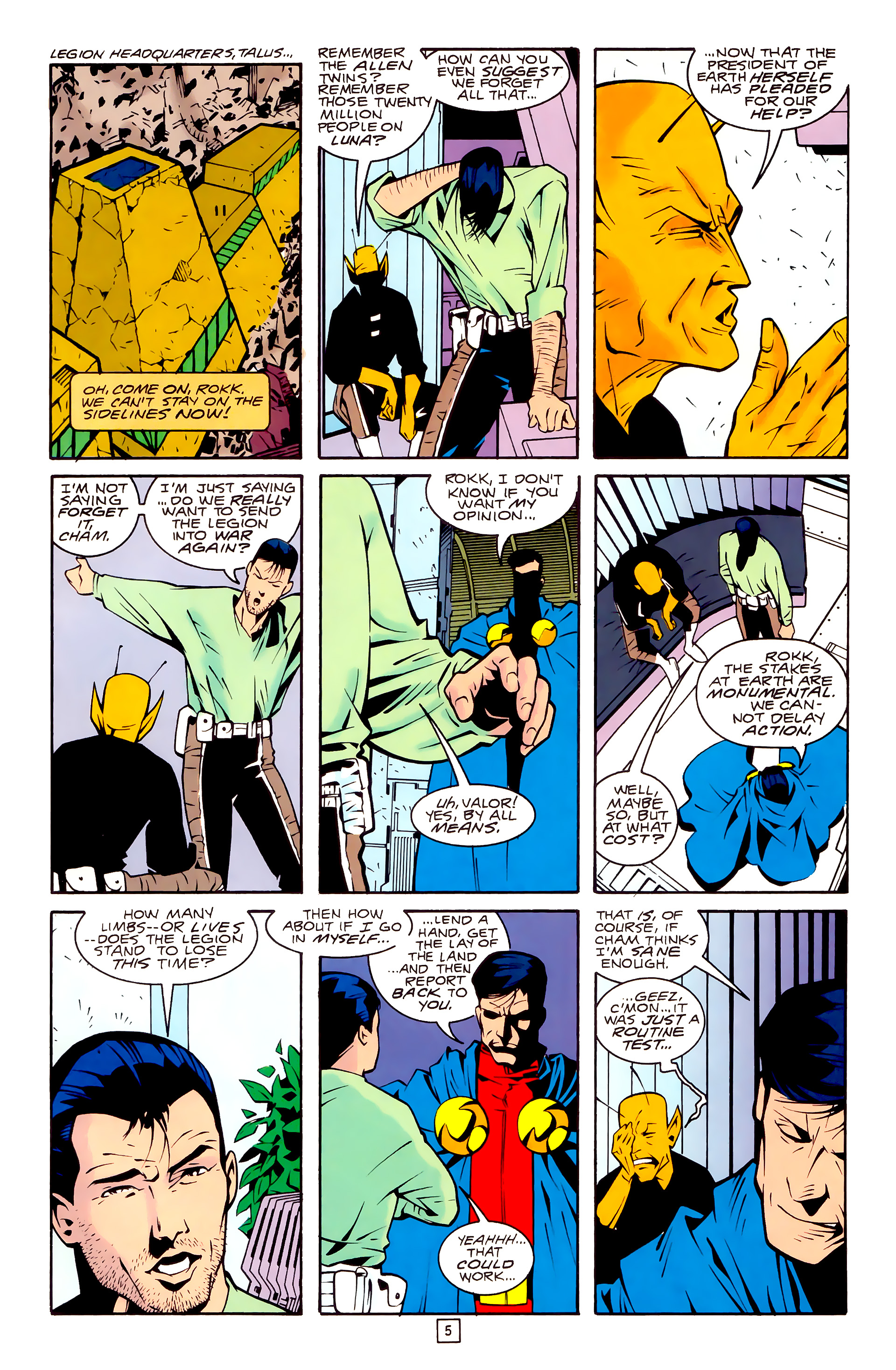 Legion of Super-Heroes (1989) 30 Page 5