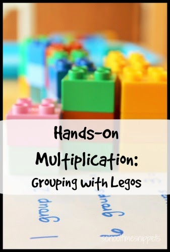 multiplication facts with LEGOs