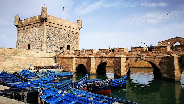 Port i targ rybny w Essaouira, Maroko