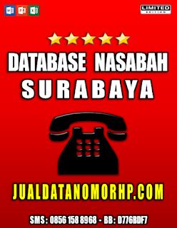 Jual Database Nasabah Prioritas Surabaya